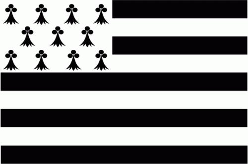 Bretagne Region Flagge 90x150 cm