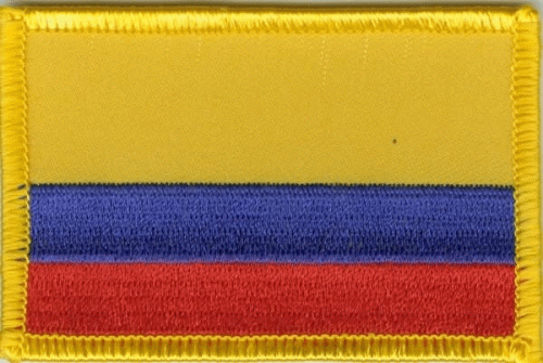 Kolumbien Aufnäher / Patch