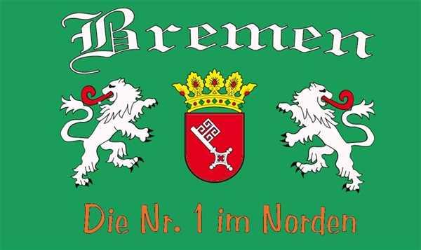 Bremen die Nr. 1 im Norden Flagge 90x150 cm