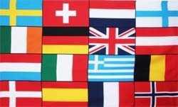 Europa - 16 Länder Flagge 90x150 cm