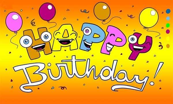 Geburtstag Happy Birthday mit Augen Flagge 90x150 cm
