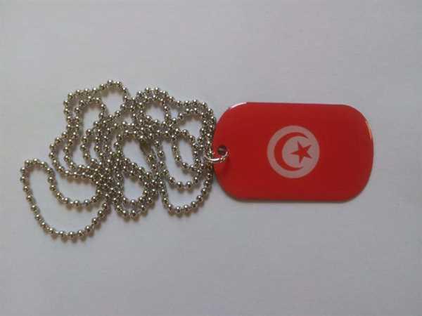 Tunesien Dog Tag 30x50 mm (Erkennungsmarke)