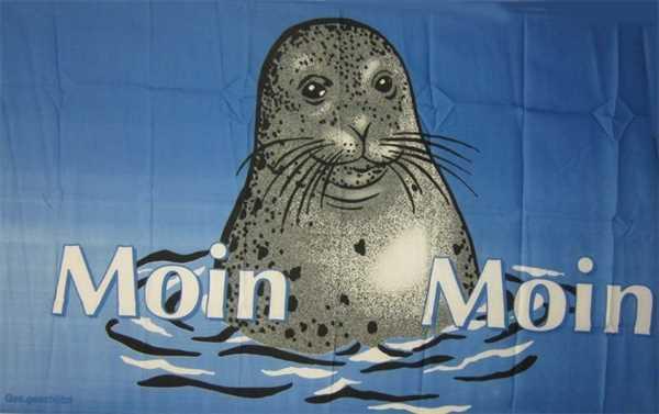 Moin Moin 1 Seehund Flagge 90x150 cm