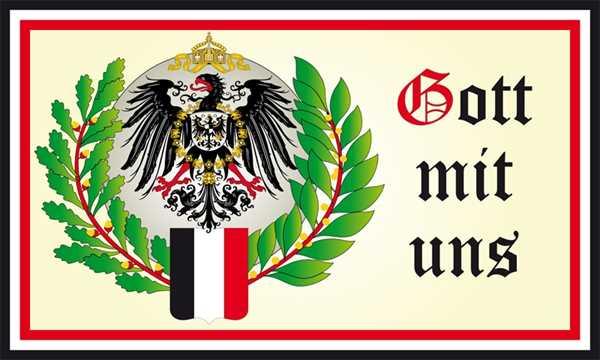 DR- Gott mit uns 2 Adler Wappen Flagge 90x150 cm