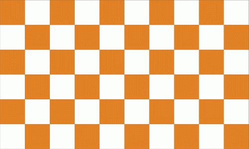 Karo orange - weiß Flagge 90x150 cm