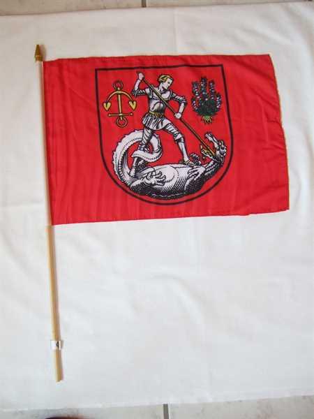 Heide Stadt in Dithmarschen Stockflagge 30x45 cm,160 Dernier (G)Abverkauf