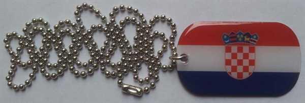 Kroatien Dog Tag 30x50 mm (Erkennungsmarke)