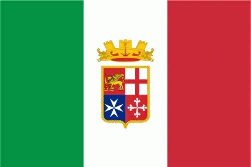 Italien mit Wappen Naval Flagge 90x150 cm