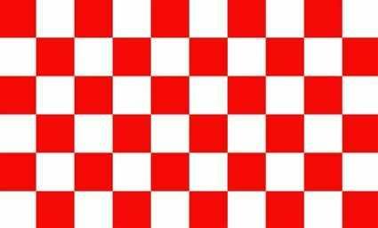 Karo rot - weiß Flagge 90x150 cm