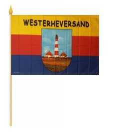 Westerheversand Stockflagge 30x45 cm,160 Dernier (G)Abverkauf