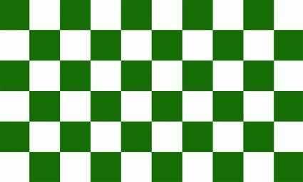 Karo grün - weiß Flagge 90x150 cm