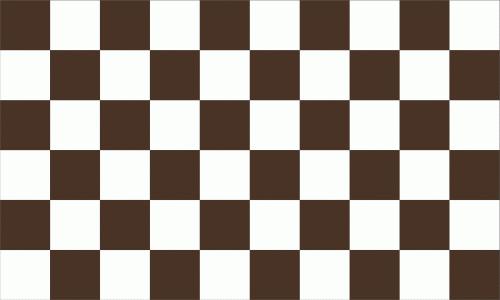 Karo braun - weiß Flagge 90x150 cm