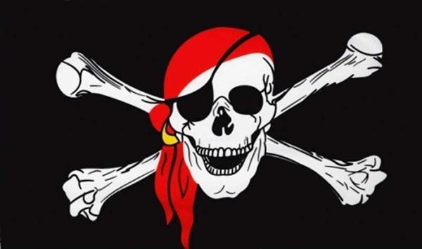 Pirat mit Kopftuch Flagge 90x150 cm Sonderangebot 75d