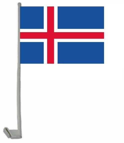 Island Autoflagge 30x45 cm