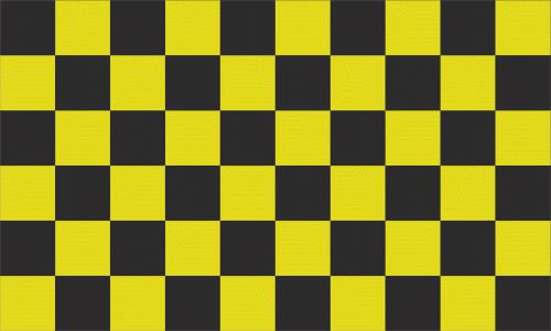Karo schwarz - gelb Flagge 90x150 cm