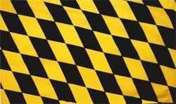 München Raute schwarz-gelb Flagge 90x150 cm