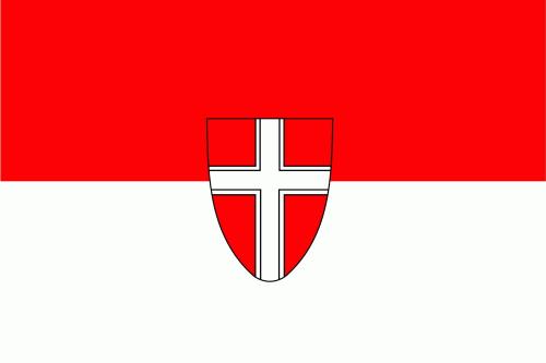 Wien Flagge 90x150 cm,160 Dernier (G)