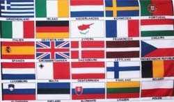 Europa - 25 Länder Flagge 90x150 cm