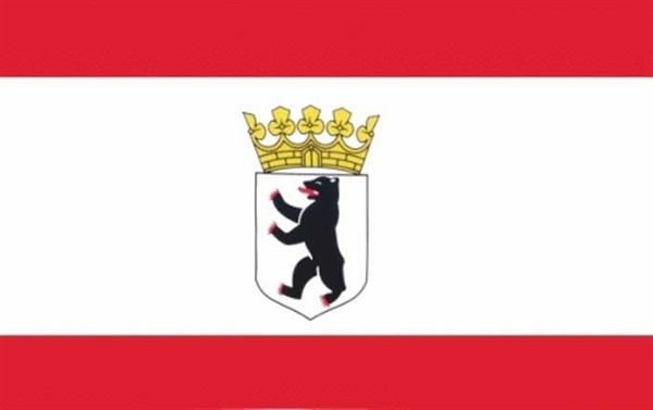 Berlin mit Krone Dienst Flagge 90x150 cm