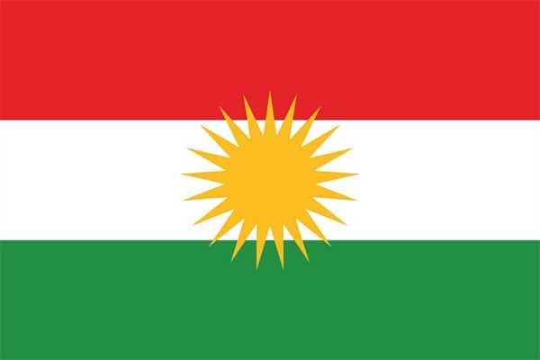 Kurdistan Flagge 90x150 cm