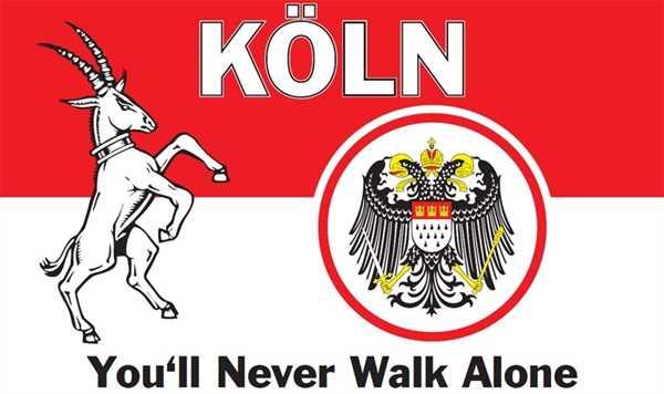 Köln You'll Never Walk Alone Flagge 90x150 cm