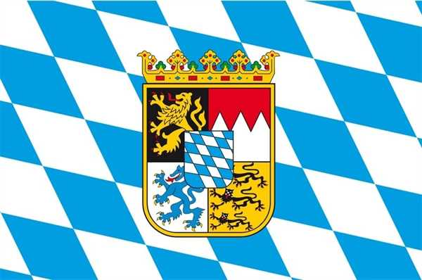 Bayern mit Wappen Flagge 90x150 cm