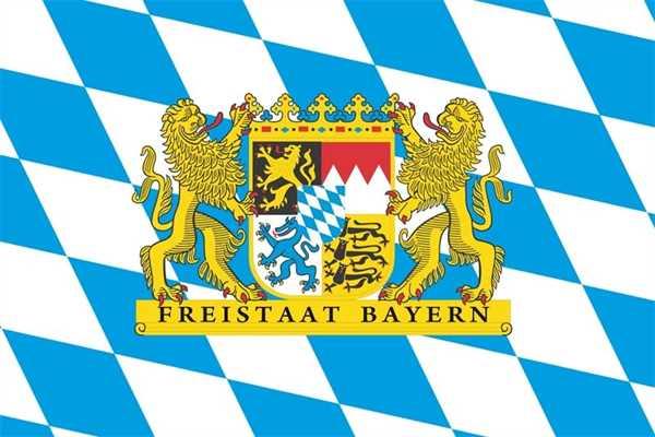 Bayern Freistaat Staatswappen Flagge 90x150 cm