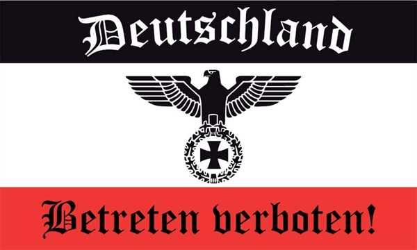 DR- Deutschland Betreten verboten Flagge 90x150 cm