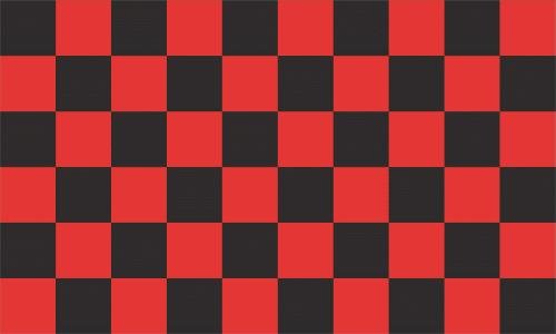 Karo schwarz - rot Flagge 90x150 cm