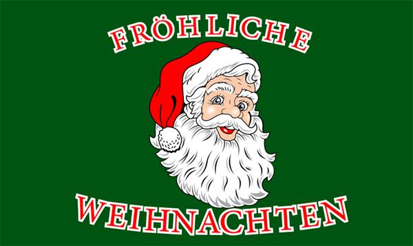 Weihnachten-Fröhliche Weihnachten Weihnachtsmann Kopf Flagge 90x150 cm