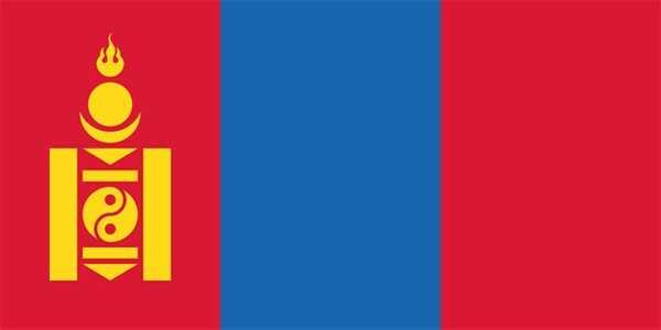 Mongolei Flagge 90x150 cm