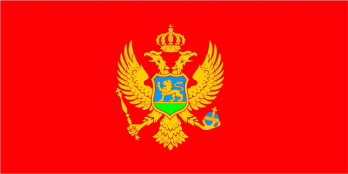 Montenegro Flagge 90x150 cm