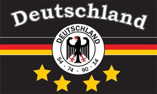 Deutschland 7, 4 Sterne Flagge 90x150 cm