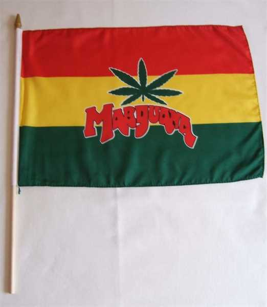 Marihuana Cannabis Stockflagge 30x45 cm,160 Dernier (G)Abverkauf