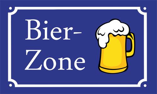 Bier Zone Flagge 90x150 cm