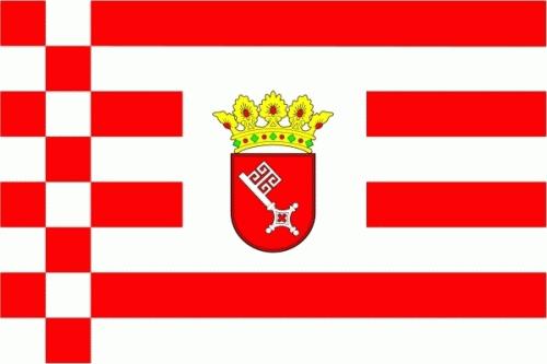 Bremen Freie und Hansestadt Flagge 90x150 cm 75d (L)