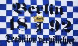 Berlin 1892 Tradition verpflichtet Flagge 90x150 cm