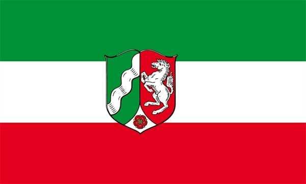 Nordrhein-Westfalen Flagge 90x150 cm,160 Dernier (G)
