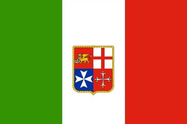 Italien mit Wappen Zivil Flagge 90x150 cm