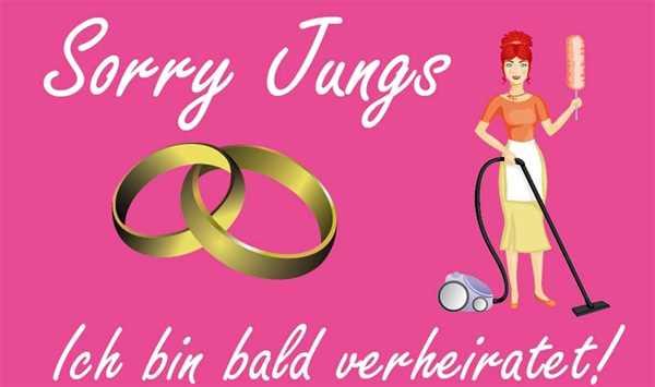 Hochzeit Junggesellinenabschied Sorry Jungs Flagge 90x150 cm
