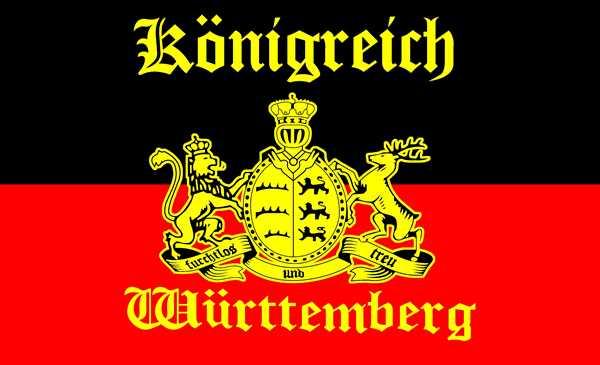 Königreich Württemberg mit Schrift Flagge 90x150 cm