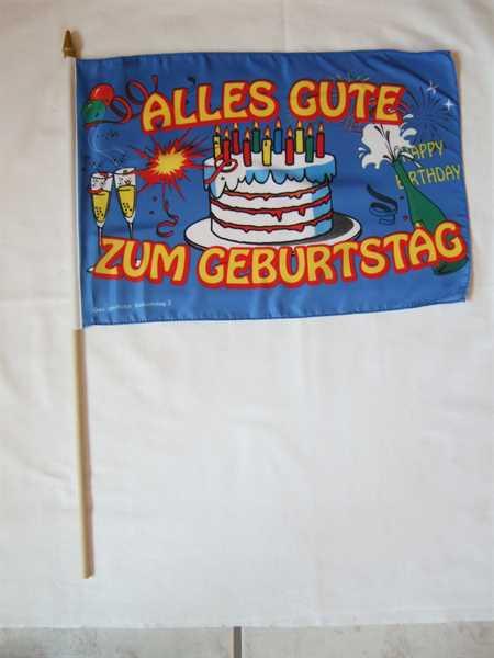 Geburtstag Alles Gute zum Geburtstag Stockflagge 30x45 cm,160 Dernier (G)