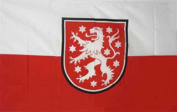 Thüringen mit Löwen Flagge 90x150 cm,160 Dernier (G)