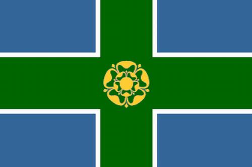 Derbyshire Flagge 90x150 cm