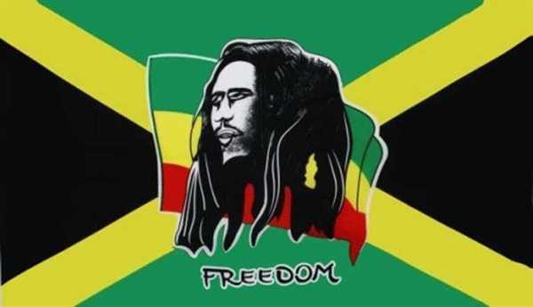 Bob Marley / Freedom Flagge 90x150 cm