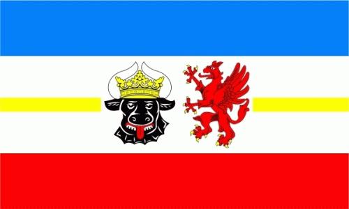 Mecklenburg-Vorpommern (Landesd.) Flagge 90x150 cm,160 Dernier (G)