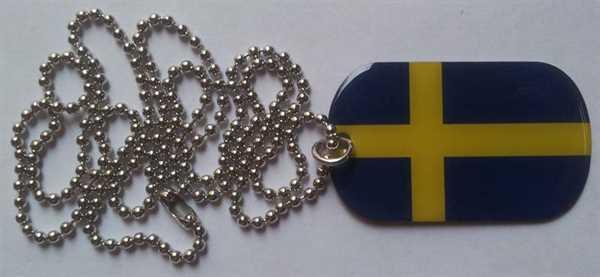 Schweden Dog Tag 30x50 mm (Erkennungsmarke)