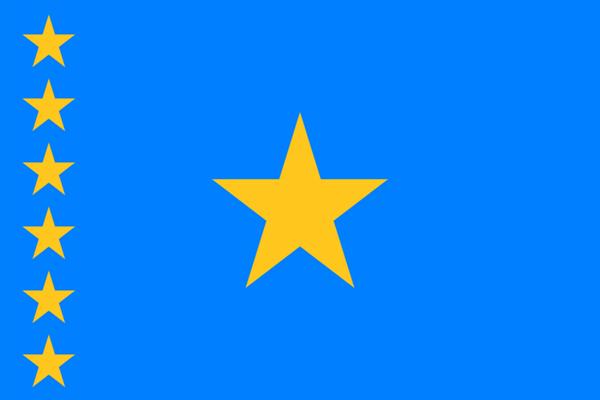 Kongo Kinshasa 2003-2006 Flagge 90x150 cm