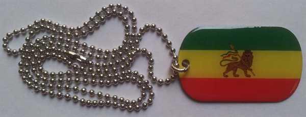 Äthiopien mit Löwe Dog Tag 30x50 mm (Erkennungsmarke)