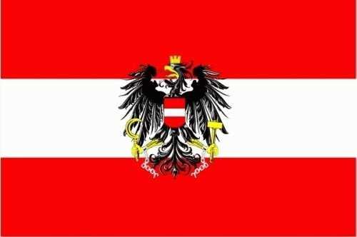 Österreich mit Wappen Flagge 150x250 cm 75d (L)